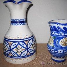Antigüedades: JARRAS EN CERAMICA PINTADA Y VIDRIADA - EL PUENTE DEL ARZOBISPO.. Lote 30546989