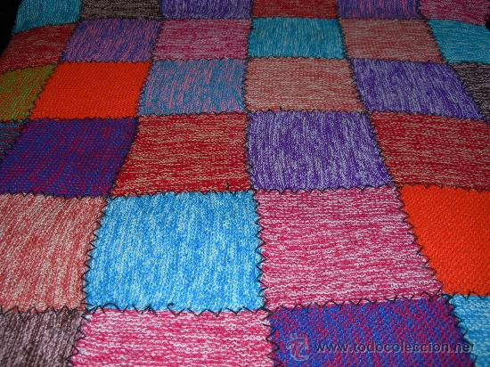 Cubre cama o manta de lana para sofa realizad comprar for Mantas de lana hechas a mano