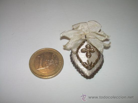 Antigüedades: ANTIGUO ESCAPULARIO BORDADO HILO DE ORO. - Foto 3 - 30590913