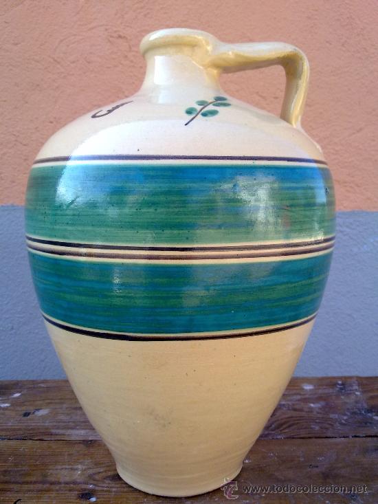 PRECIOSO CANTARO DE LUCENA, VIDRIADO. (Antigüedades - Porcelanas y Cerámicas - Lucena)