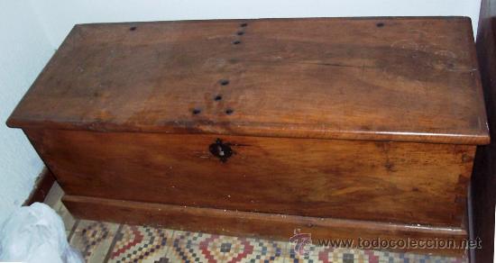 Arca antigua de madera de nogal blanco comprar ba les - Baules antiguos de madera ...
