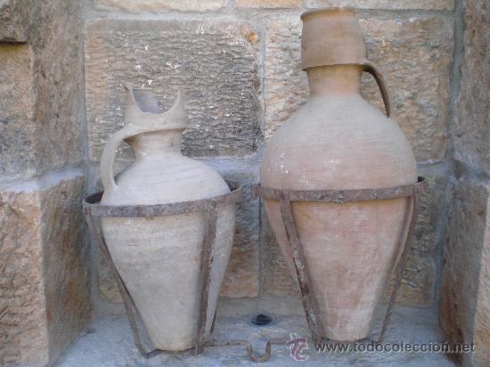 ANTIGUAS AGUADERAS DE HIERRO FORJADO -FORJA- (Antigüedades - Técnicas - Rústicas - Ganadería)