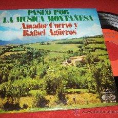 Discos de vinilo: AMADOR CUERVO Y RAFAEL AGÜERO JOTA MONTAÑESA A LO BAJO/JOTA A LO ALTO/JOTA A LO BAJO 7