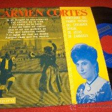 Discos de vinilo: CARMEN CORTES QUE TU NO ME QUIERAS YA/Y EL AGUA DEL MAR SE ACABE/HAY QUE SABERLOS CUIDAR/+5 7