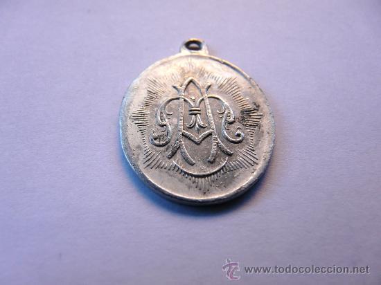 Antigüedades: MEDALLA ANTIGUA EN ALUMINIO - NUESTRA SEÑORA DE LA HOZ , VENTOSA, ARAGON - Foto 5 - 48371980