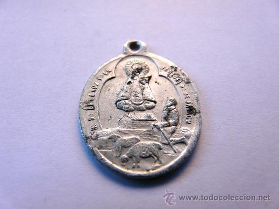 Antigüedades: MEDALLA ANTIGUA EN ALUMINIO - NUESTRA SEÑORA DE LA HOZ , VENTOSA, ARAGON - Foto 2 - 48371980