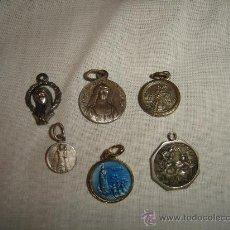 Antigüedades: LOTE DE 6 MEDALLAS ANTIGUAS. ABADIA DE EINSIEDELN, FATIMA, SANTA MARGUERITE.... Lote 30614169