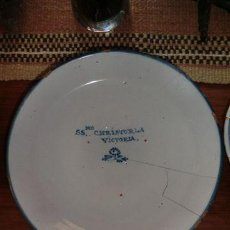 Antigüedades: PLATO TALAVERA. SIGLO XIX. SANTÍSIMO CRISTO DE LA VICTORIA 28,5 CM. LAÑADO. PELOS.. Lote 30619755