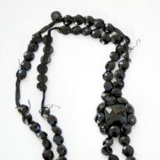 Antigüedades: ESTUPENDO LOTE DE PASAMANERÍA DE AZABACHE - S. XIX. Lote 30641458