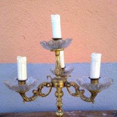 Antigüedades: ANTIGUO CANDELABRO DE BRONCE , ELECTRIFICADO.. Lote 30644530