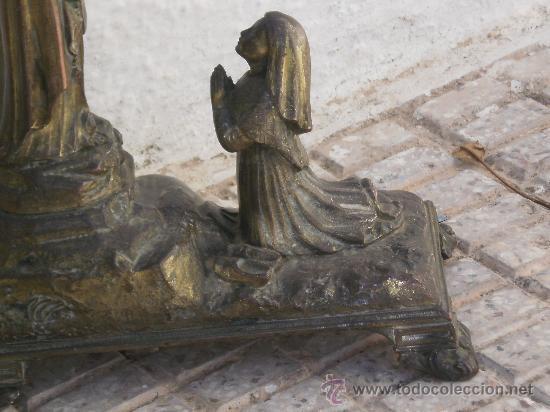 Antigüedades: ANTIGUO CONJUNTO ADORACIÓN A LA VIRGEN , ( MUSICAL A CUERDA ) TOTALMENTE METALICA . DESCONOZCO AÑO . - Foto 4 - 30644793