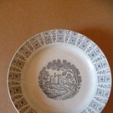 Antigüedades: PLATO ANTIGUO DE PORCELANA, DIAMETRO 22 CMS. . Lote 30650223