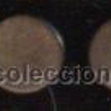 Antigüedades: PAR DE GEMELOS ANTIGUOS CON FORMA CIRCULAR COLOR MARRÓN MATE. Lote 30672532