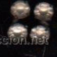 Antigüedades: PAR DE GEMELOS ANTIGUOS CON DOBLE CIRCONITA DE CRISTAL. Lote 30672598