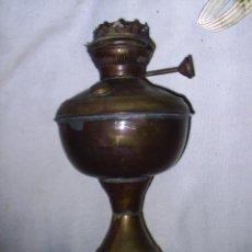 Antigüedades: QUINQUE DE METAL ANTIGUO - MIDE 28 CM DE ALTO X 14 CM DE DIAMETRO - SE VENDE COMO SE VE EN LAS FOTOS. Lote 30655538