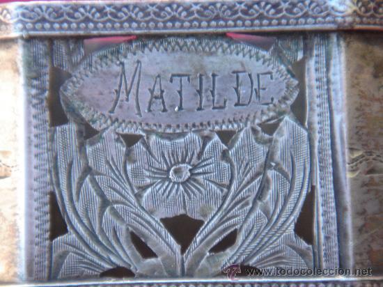 Antigüedades: DETALLE DEL TRABAJO DEL PLATERO - Foto 2 - 30663304