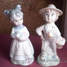 Antigüedades: PRECIOSAS FIGURAS, PAREJA DE NIÑOS MARCA SAMBO.. Lote 30664290