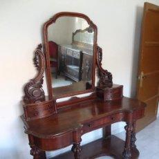 Antigüedades: TOCADOR CHAPADO EN CAOBA. Lote 30738967