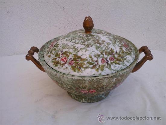 SOPERA PINTADO A MANO (Antigüedades - Porcelanas y Cerámicas - Otras)