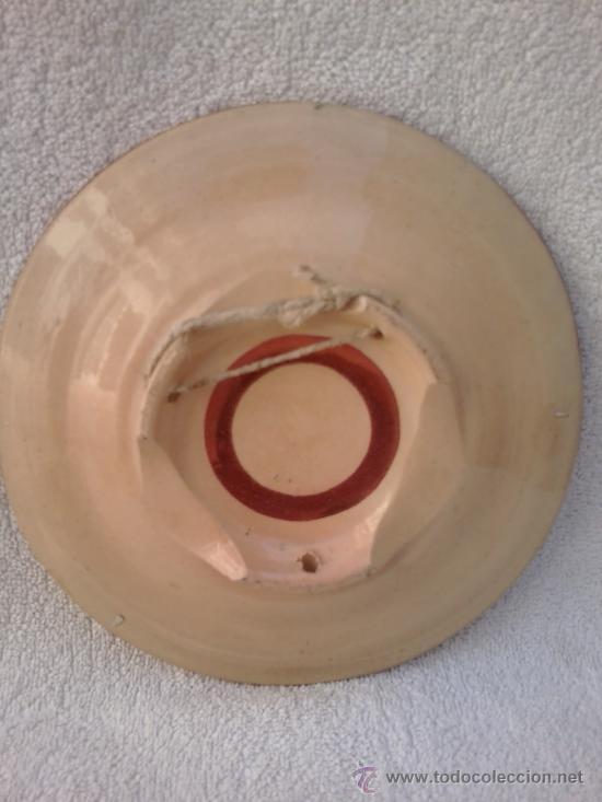 Antigüedades: Plato con reflejos metálicos Manises - Foto 4 - 30709490