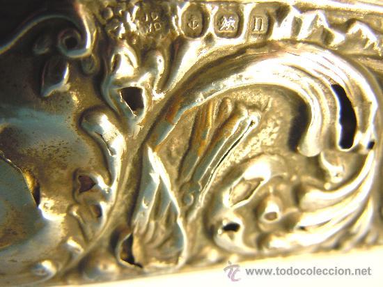 Antigüedades: CEPILLO DE PLATA INGLESA SIGLO XIX - Foto 5 - 30705849