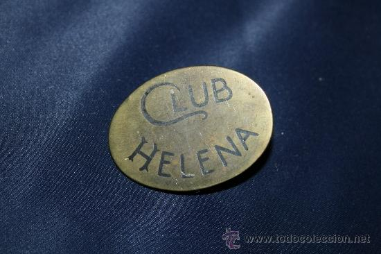 BONITA HEBILLA EN BRONCE DEL CLUB HELENA (Antigüedades - Moda y Complementos - Mujer)