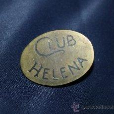 Antigüedades: BONITA HEBILLA EN BRONCE DEL CLUB HELENA. Lote 30716687