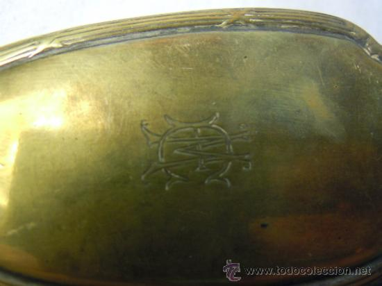 Antigüedades: CEPILLO DE METAL ART DECO - Foto 3 - 30719433