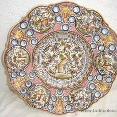 Antigüedades: PLATO DE COLGAR DE CERAMICA. Lote 30731682