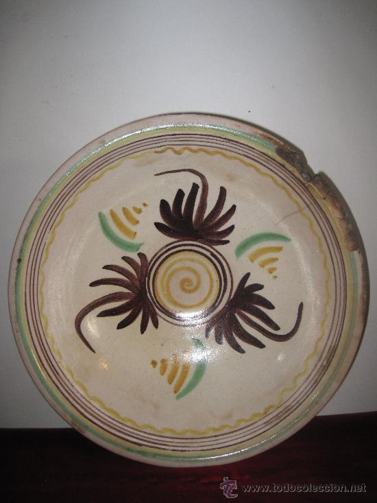 LEBRILLO ANTIGUO DE EL PUENTE DEL ARZOBISPO. (Antigüedades - Porcelanas y Cerámicas - Puente del Arzobispo )