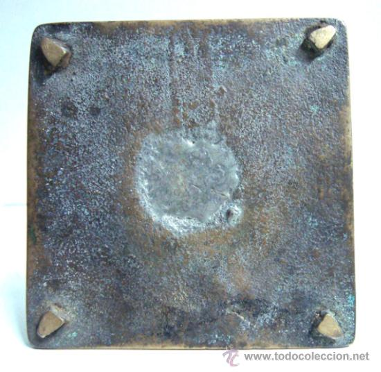 Antigüedades: Portavelas antigua de bronce del siglo XVIII - Foto 3 - 30736841