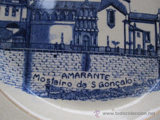 Antigüedades: PORTUGAL ANTIGUO PLATO MOSTEIRO S, GONÇALVO EN AMARANTE - SELLO MASSARELLOS PORTUGAL - Foto 2 - 30745091