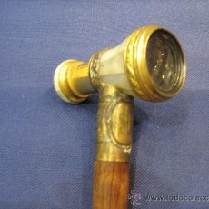 Antigüedades: BASTON DE DOBLE USO ,CATALEJO DE TRATRO.. Lote 30753339