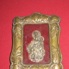 Antigüedades: RELICARIO DE METAL CON IMAGEN DE MARIA AUXILIADORA MIDE 15X12 CM - SE VENDE COMO SE VE EN LA FOTO. Lote 30756599
