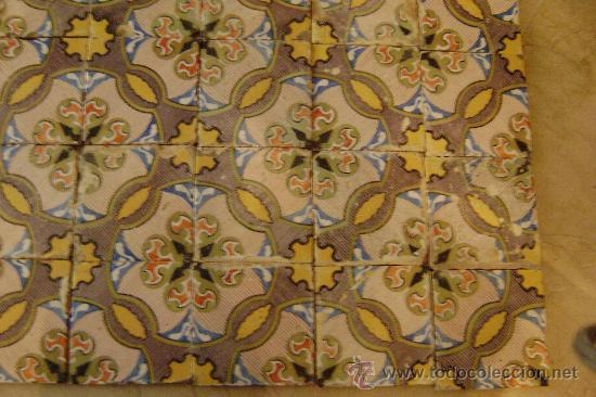 Antigüedades: ONDA.150 AZULEJOS 20,5 X20,5 CTMS. SIGLO XIX - Foto 4 - 30763139