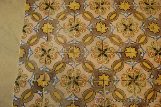Antigüedades: ONDA.150 AZULEJOS 20,5 X20,5 CTMS. SIGLO XIX - Foto 5 - 30763139