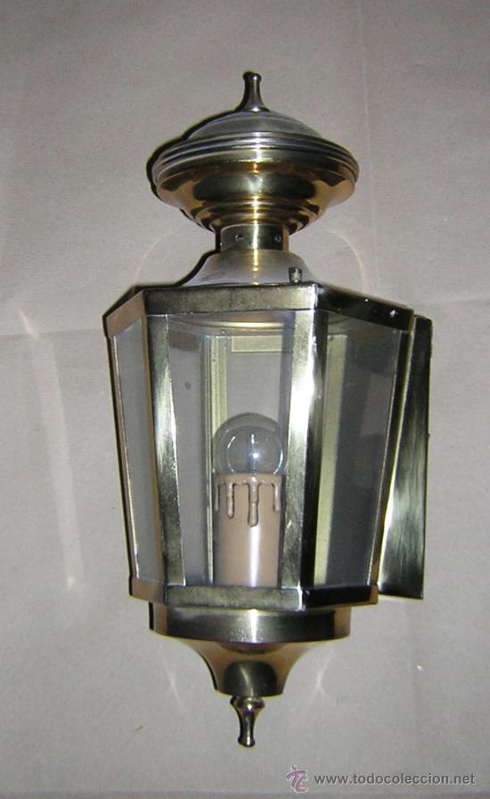ANTIGUO APLIQUE PARED LATON (Antigüedades - Iluminación - Apliques Antiguos)