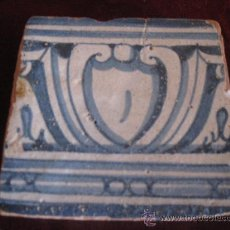 Antigüedades: AZULEJO TOLEDO/TALAVERA, TECNICA PINTADA LISA, RENACIMIENTO SIGLO XVI. Lote 30784929