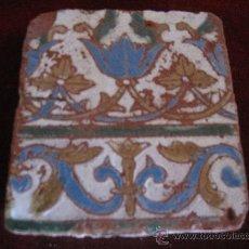 Antigüedades: AZULEJO DE TOLEDO, EN TECNICA DE ARISTA. RENACIMIENTO S/ XVI.. Lote 30787441