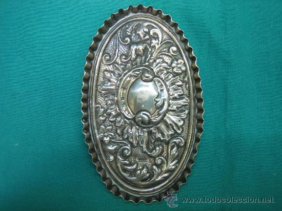 Antigüedades: Bandejita en plata de orfebreria. Punzon: Duran (Cordoba). Medidas 12,5x7,5x0,8 cm - Foto 3 - 30832512