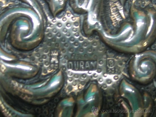 Antigüedades: Bandejita en plata de orfebreria. Punzon: Duran (Cordoba). Medidas 12,5x7,5x0,8 cm - Foto 4 - 30832512