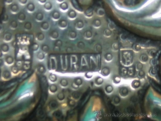 Antigüedades: Bandejita en plata de orfebreria. Punzon: Duran (Cordoba). Medidas 12,5x7,5x0,8 cm - Foto 6 - 30832512