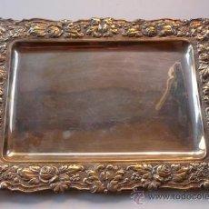 Antigüedades: BANDEJA DE PLATA O PLATEADA - LLEVA UN SELLO : MONTEJO. Lote 30812279