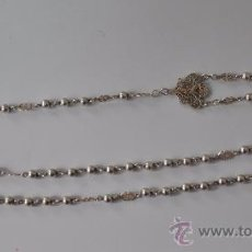Antigüedades: ANTIGUO ROSARIO DE PLATA . Lote 30910858