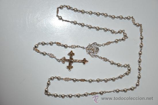 Antigüedades: antiguo rosario de plata - Foto 3 - 30910858
