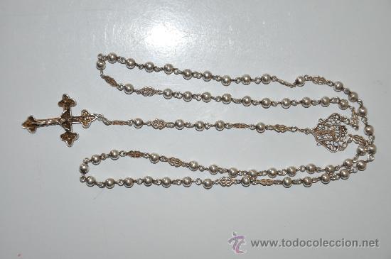 Antigüedades: antiguo rosario de plata - Foto 4 - 30910858