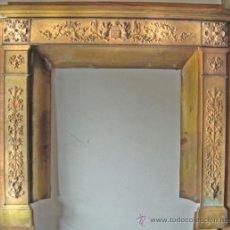 Antigüedades: FRONTAL DE CHIMENEA EN BRONCE. Lote 30820659