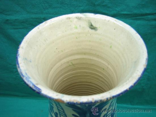 Antigüedades: Jarron decorado a mano antiguo . Altura 44, 15´5 de diametro - Foto 5 - 30837650