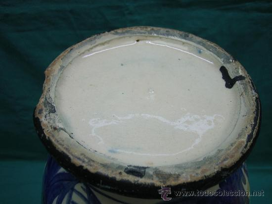 Antigüedades: Jarron decorado a mano antiguo . Altura 44, 15´5 de diametro - Foto 8 - 30837650