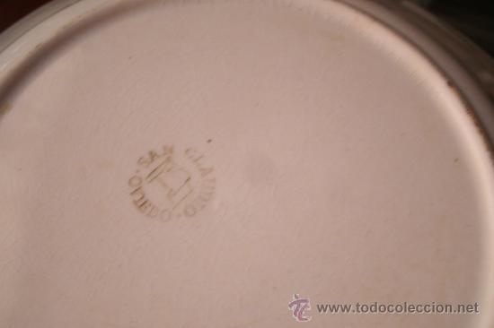 PLATO BLANCO ORIGINAL DE SAN CLAUDIO ---- AÑOS 60 (Antigüedades - Porcelanas y Cerámicas - San Claudio)